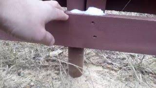 видео Плетеный деревянный забор из досок