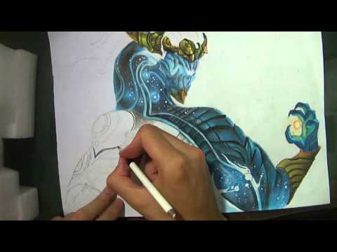 SPEED DRAWING: Aurelion Sol | League of Legends.