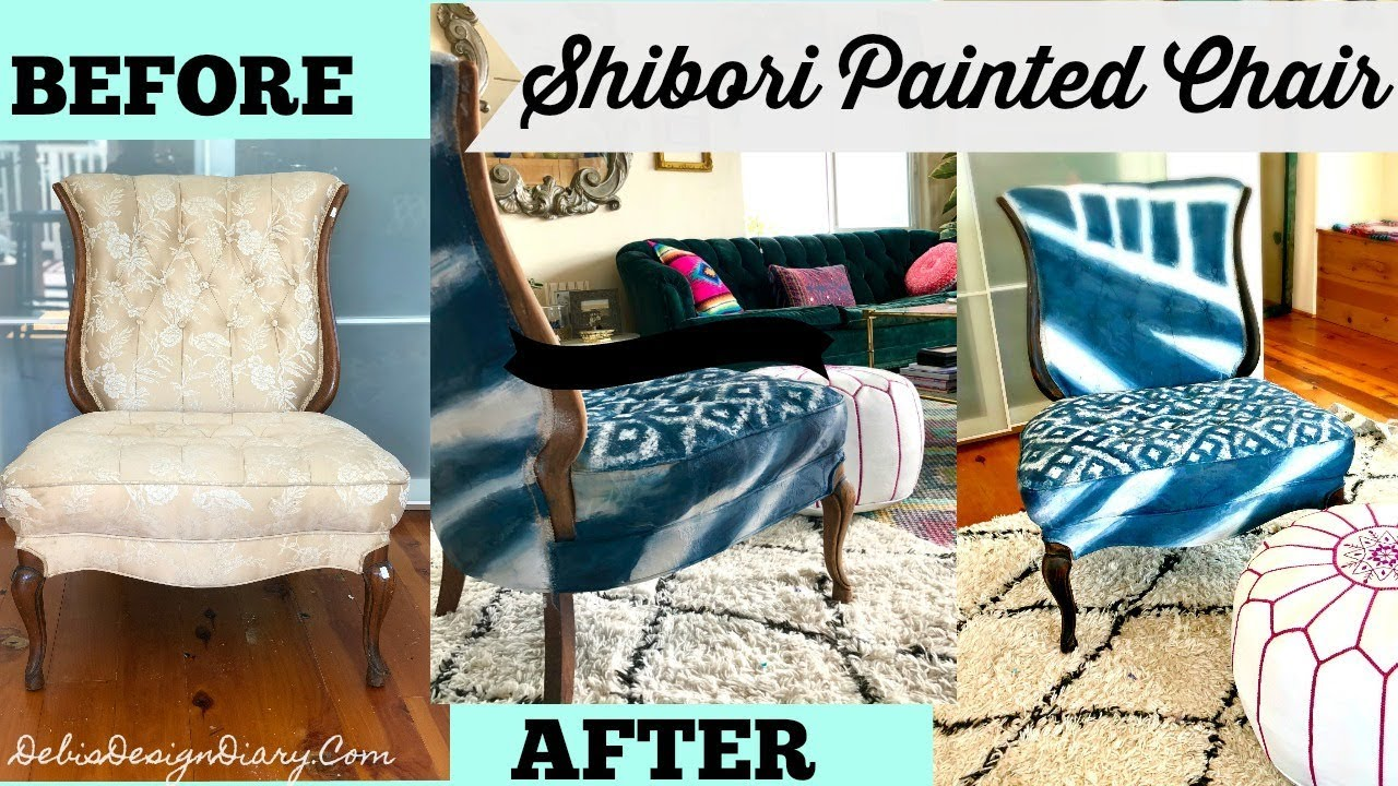 How To Paint Upholstery Anthropologie Knock Off 1500 Chair For Under 100 Youtube Paint Upholstery Furniture Painted Chair