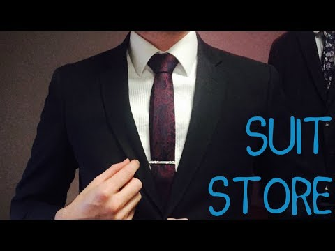 ASMR - Suit Store Roleplay - Soft Spoken, Brushing, Clicking, Whispering