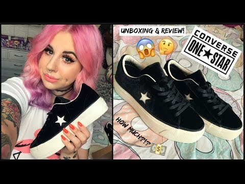 CONVERSE ONE STAR PLATFORMS! | UNBOXING & REVIEW! ❤