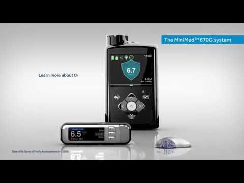 Medronic 670 G insulin pump system