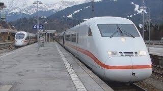 Zugverkehr in Garmisch-Partenkirchen [HD]