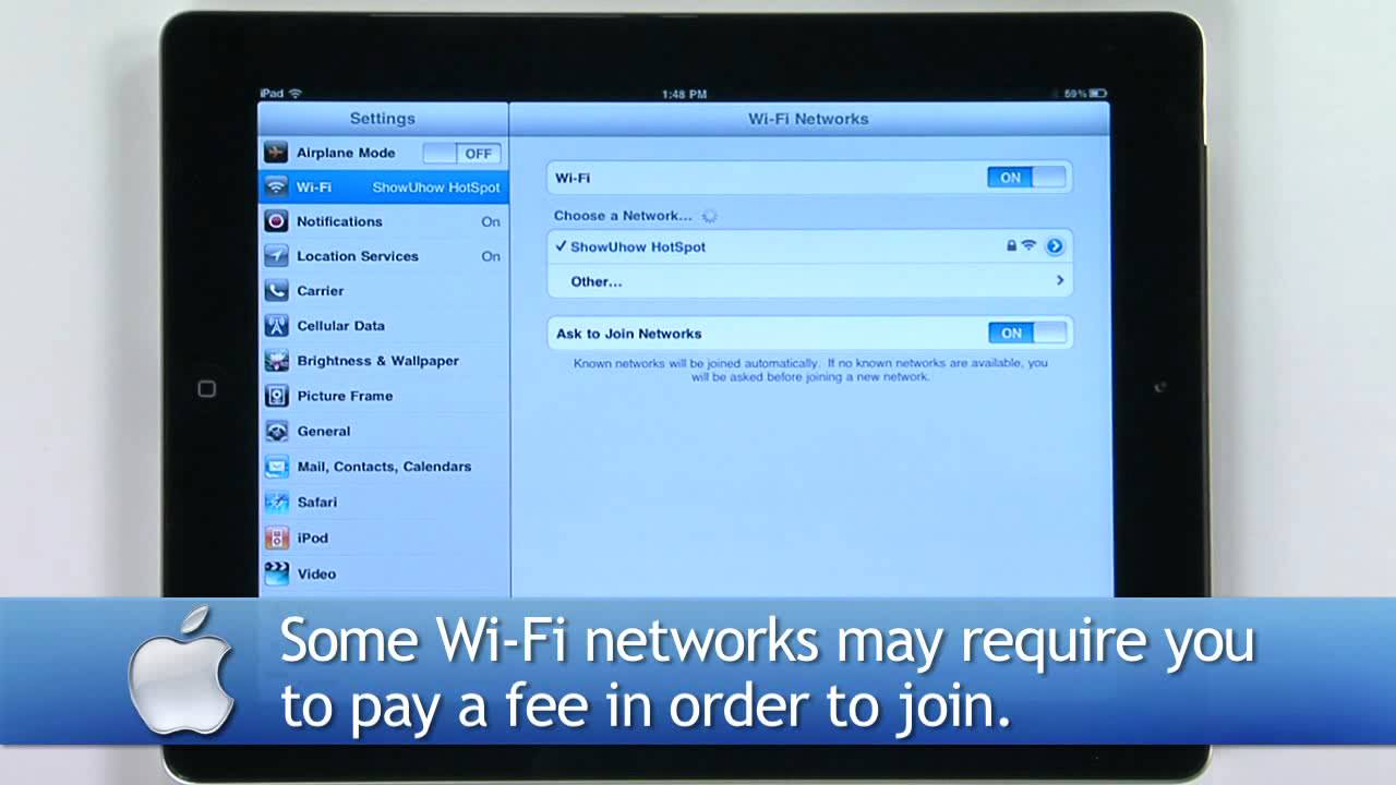 How to connect iPad to the Internet