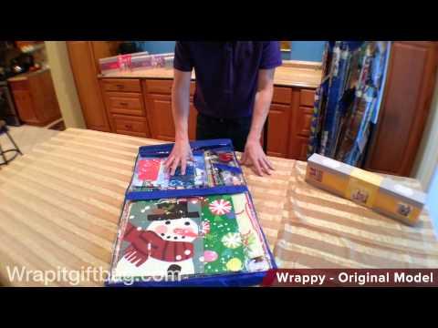 Wrapping Paper Storage Organizer with Wrappy Original