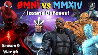 ØMNÎ vs MMXIV! Insane Defense! Havok/Thing/NickFury Season 9 War #4 - MCOC