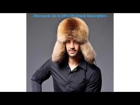 BEST QUALITY MEN'S TRAPPER FOX RACCOON FUR HAT REAL LEATHER Ushanka SH