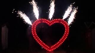 Фейерверк на свадьбу огромное супер сердце 3х3 м