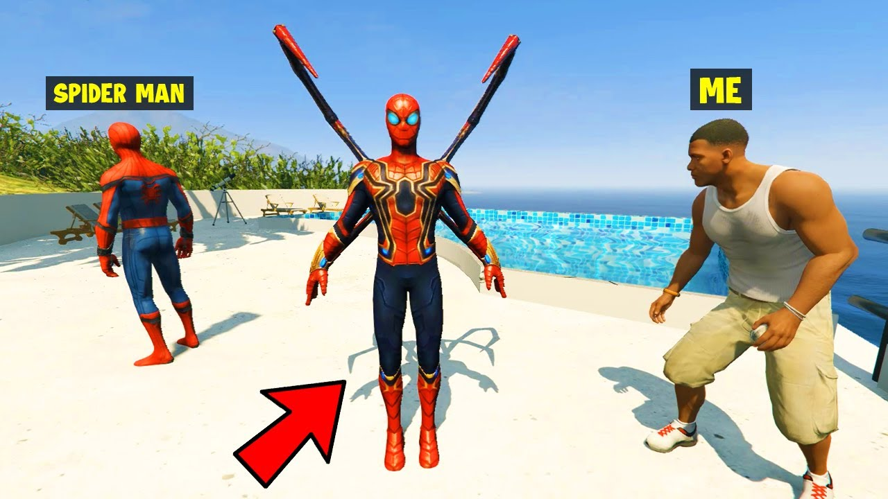 I Stole SPIDER MAN'S IRON SPIDER SUIT From SPIDER MAN in GTA 5!