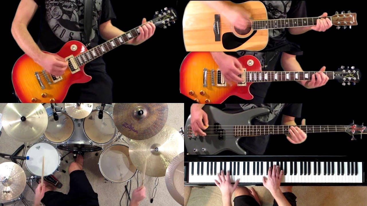 civil war guns n roses guitar bass piano drum cover youtube