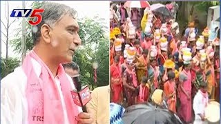 Harish Rao Face to Face On Election Campaign At Medak | TV5 News