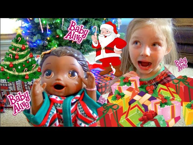 Baby Alive Has Christmas Morning Lilly Catches Santa The Lilly And Mommy Show