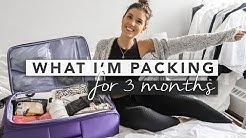 Pack With Me - What I'm Packing for 3 Months!