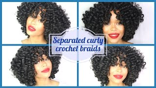watch me style and slay these curly knotless crochet braids