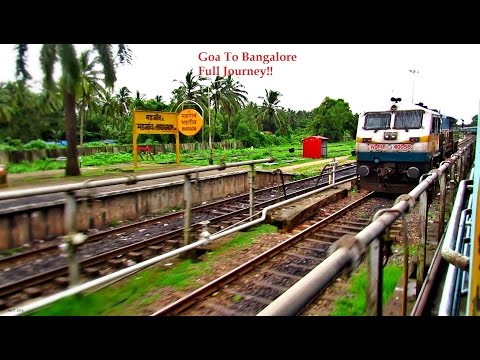 Goa To Bangalore Full Train Journey - Dudhsagar Monsoon View Tunnels Ghats & More - INDIAN RAILWAYS
