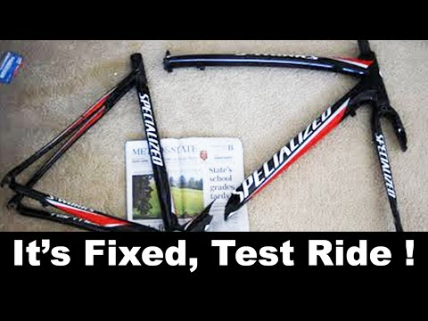 Carbon Fiber Bike Frame Repair UNDER $30 - DIY - ROAD TEST RIDE REVIEW