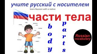 № 9  Русский с нуля : ЧАСТИ ТЕЛА : голова, нога, рука / русский для начинающих