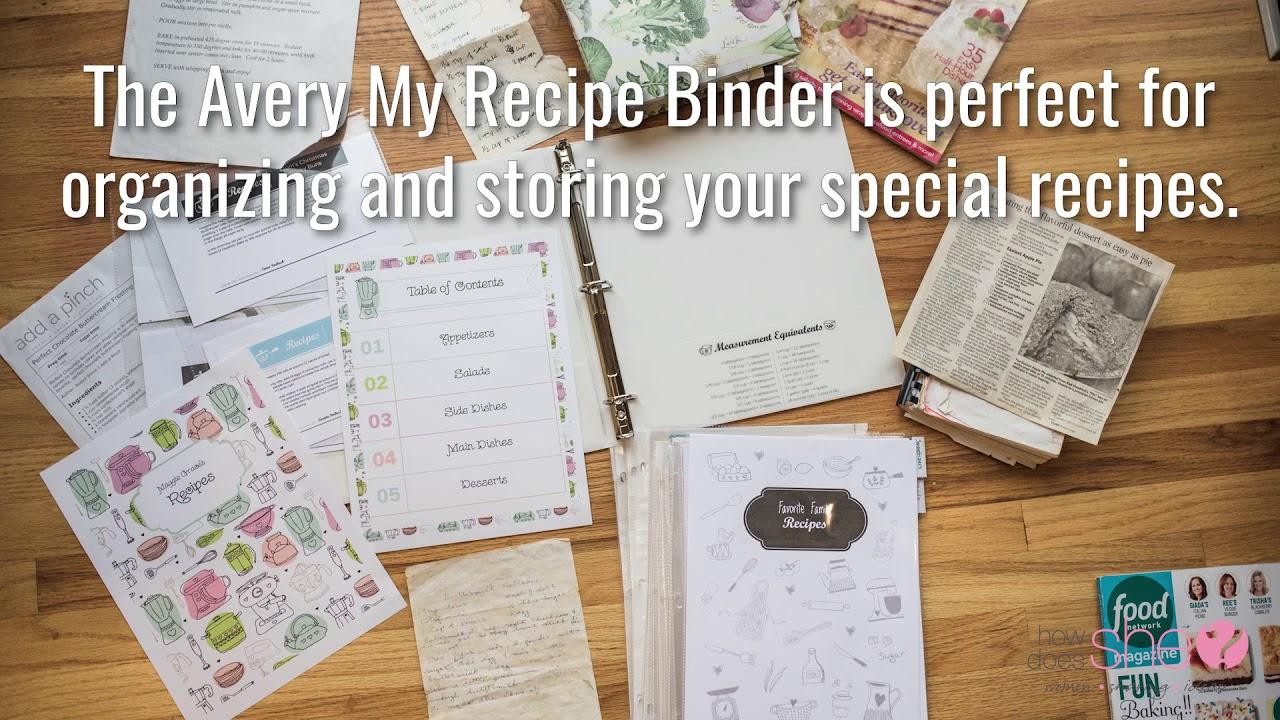 hds avery recipe binder youtube