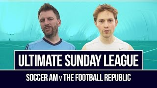 Shocking miss from 3 yards! soccer am v the football republic