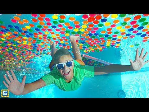 Giant Underwater Box Fort Super Wubble Bubble Swimming Pool Adventure!!