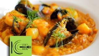 Creamy Saffron Seafood Risotto Recipe