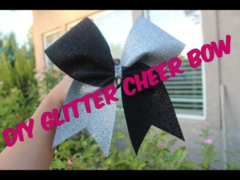 DIY GLITTER CHEER BOW