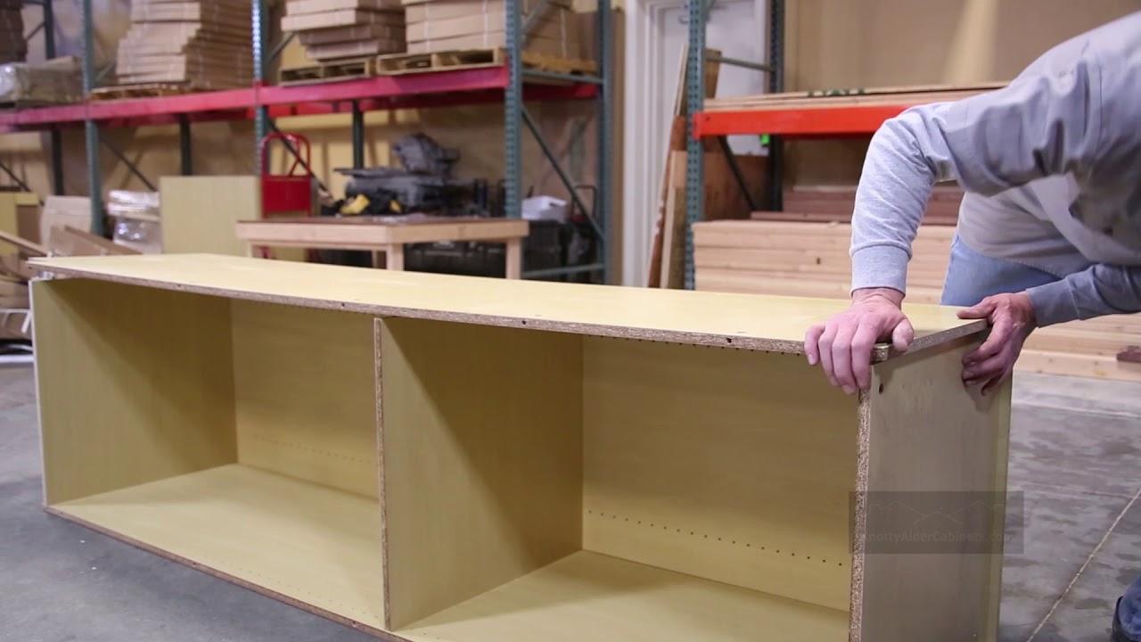 Pantry Cabinet Assembly | Knotty Alder Cabinets. KnottyAlderCabinets.com