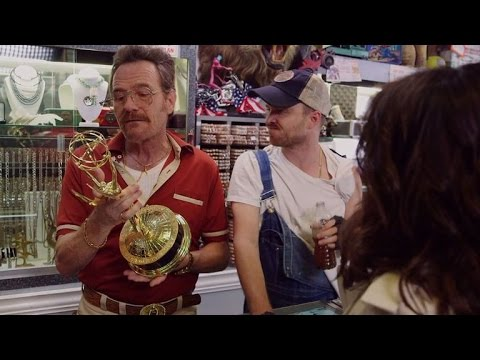 """Breaking Bad"" stars team with Julia Louis-Dreyfus in Emmy parody"