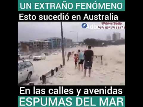 Fenomeno de Espuma Marina en Australia