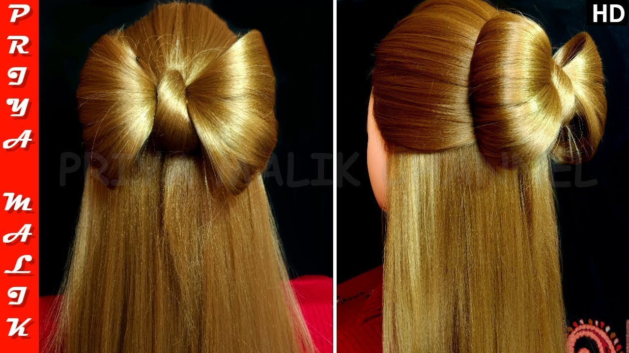 really cute hair styles hair bow hairstyle easy hair tutorial malik 1238 | maxresdefault