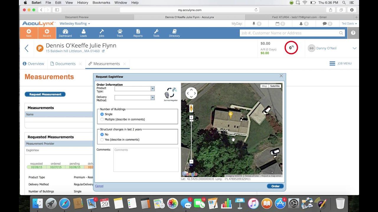 How to upload documents into acculynx : order eagleview by