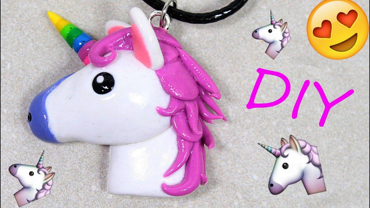 Unicorn Emoji Polymer Clay Tutorial Youtube
