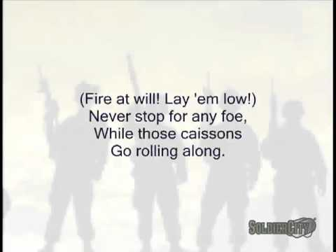 The Caisson Song Original US Army Song   Singalong with Lyrics