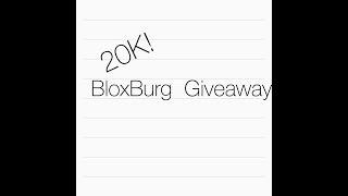 Roblox BloxBurg 20K Giveaway!