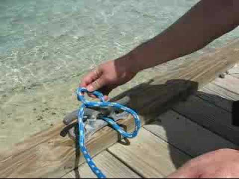 Sailing knots - How to tie an Anchor Bend - The International Marine Book of Sailing - Robby Robinson - 0070532257