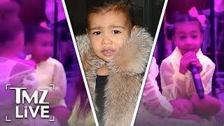 North West Shows Of Her Singing Talents | TMZ Live