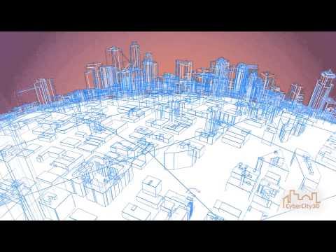 CyberCity 3D - Seattle Wireframe City Model