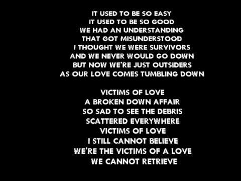 VICTIMS OF LOVE. (With correct lyrics) By Joe Lamont