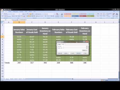 Excel - Find and Replace trick