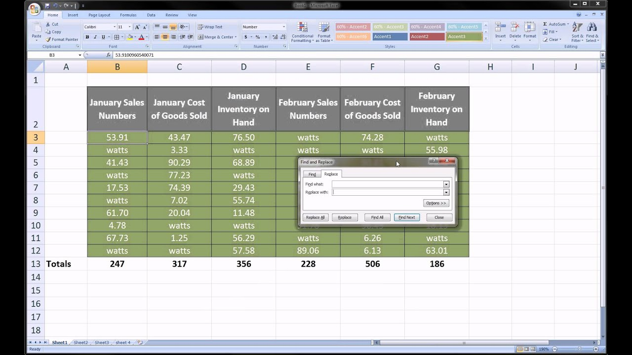 microsoft excel for mac find and replace