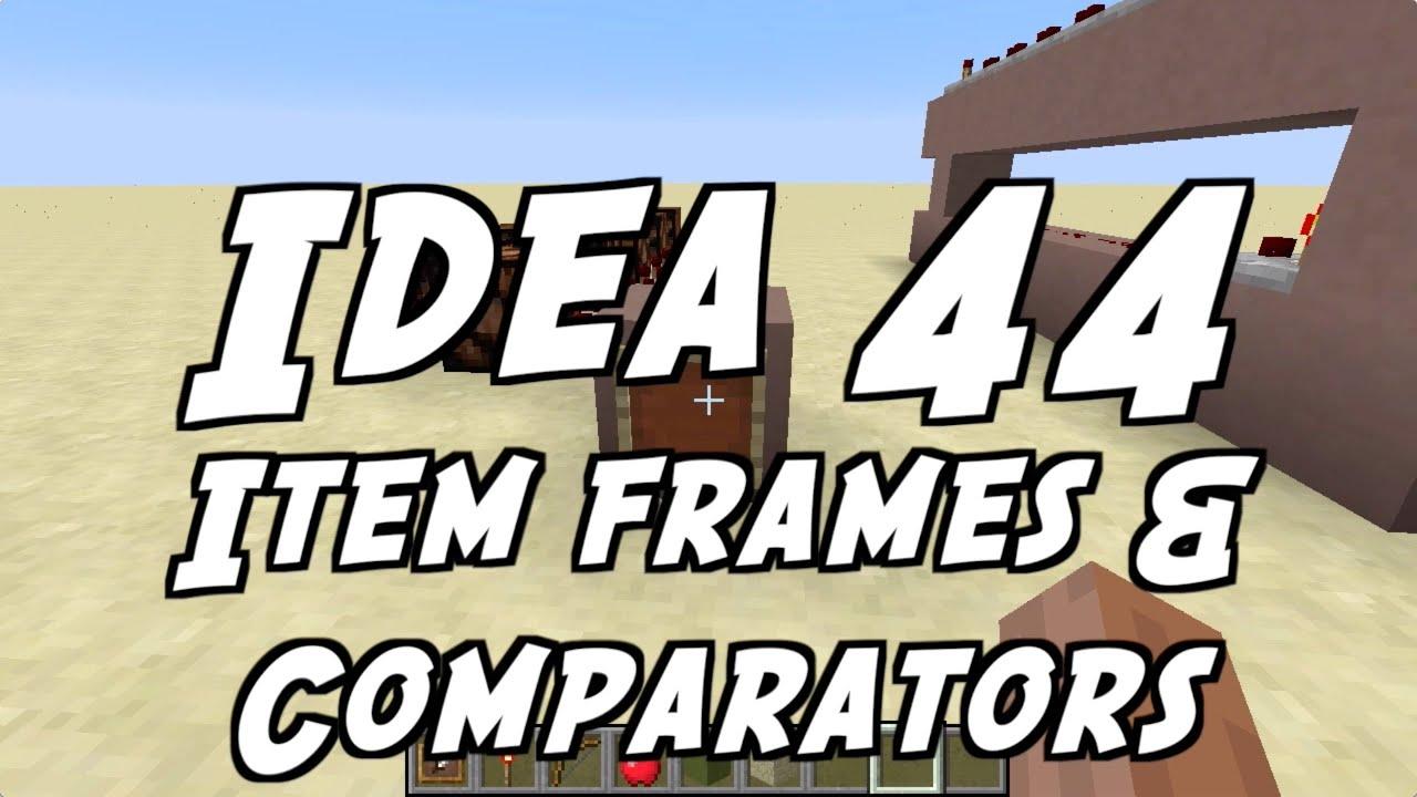 Minecraft item frame comparator mc