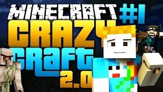 Minecraft: CRAZY CRAFT 2.0 - #1 | Stealing Gertrude?!