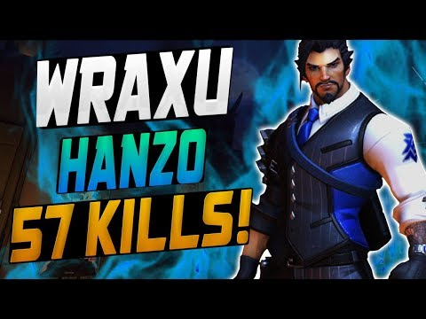 WRAXU DOMINATING AS HANZO! 57 ELIMS! [ OVERWATCH SEASON 10 TOP 500 ] thumbnail