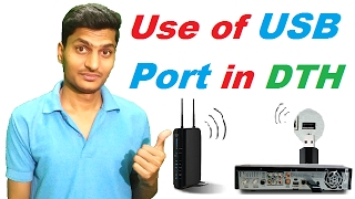What is the use of USB port in DTH like Videocon, TataSky, Airtel and other dth set top box in hindi