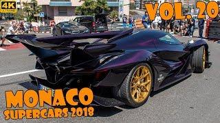 SUPERCARS IN MONACO 2018 - VOL. 20 (EB110, Apollo, LaFerrari, Zenvo, etc ... ) [2018 4K]