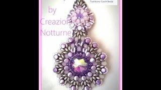 tutorial orecchini LUXURY con Pellet cipollotti e tri beads VIDEO  COLLABORAZIONE PERLINE E GIOIELLI