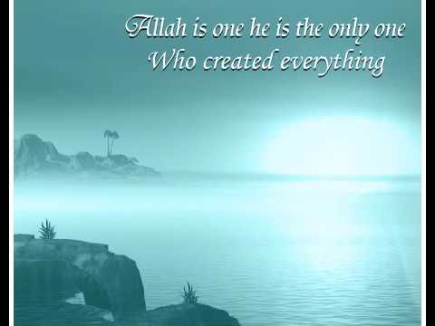 allah in one he is the only one