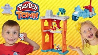Play-Doh Town Fire Station, Ice Cream Truck, Pizza Delivery, Pet Shop Fun Playtime Toys
