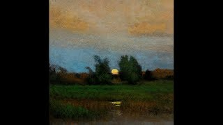 George Inness Moonrise 8x8 Tonalist Landscape Oil Painting