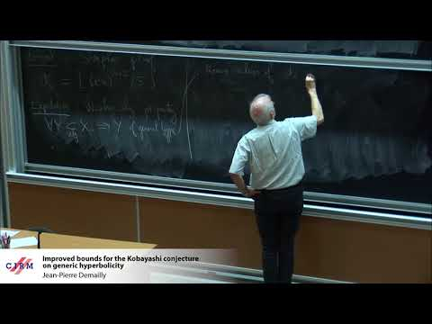 Jean-Pierre Demailly: Improved bounds for the Kobayashi conjecture on generic hyperbolicity